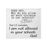 Dear God Throw Blanket