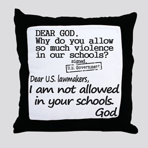 Dear God Throw Pillow