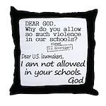 Dear God Throw Pillow