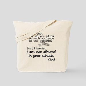 Dear God Tote Bag