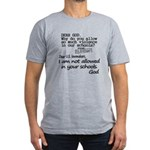Dear God Men's Fitted T-Shirt (dark)