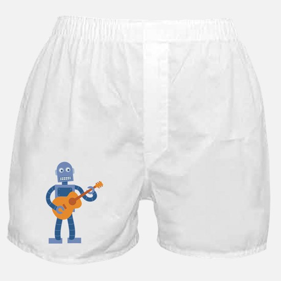 Guitar Robot Boxer Shorts
