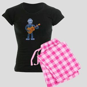 Guitar Robot Women's Dark Pajamas