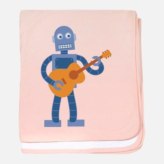Guitar Robot baby blanket