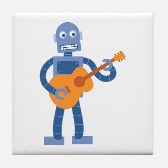 Guitar Robot Tile Coaster
