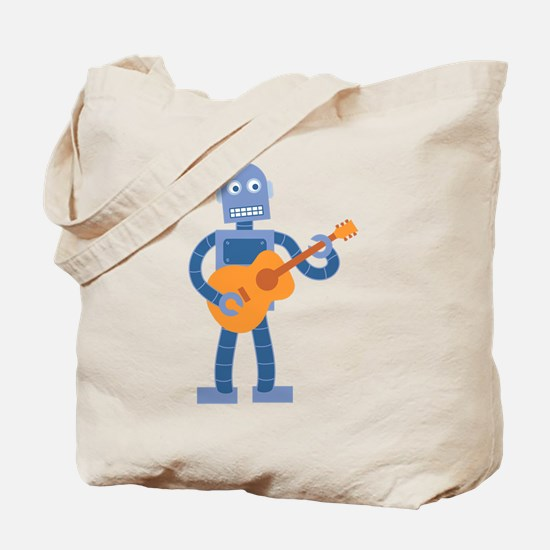 Guitar Robot Tote Bag