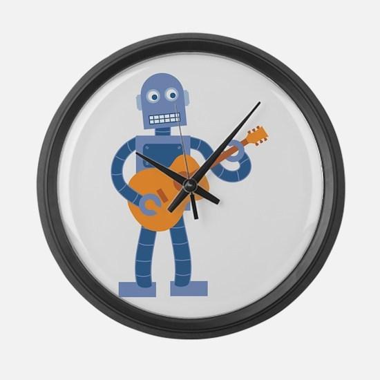 Guitar Robot Large Wall Clock