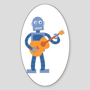 Guitar Robot Sticker (Oval)
