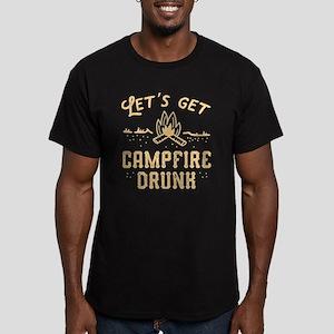 Let's Get Campfire Drunk Men's Fitted T-Shirt (dar