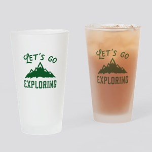 Let's Go Exploring Drinking Glass