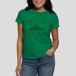 Let's Go Exploring Women's Dark T-Shirt