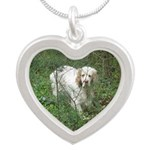 Note Card Silver Heart Necklace