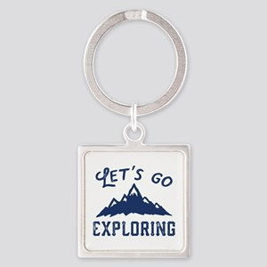 Let's Go Exploring Square Keychain