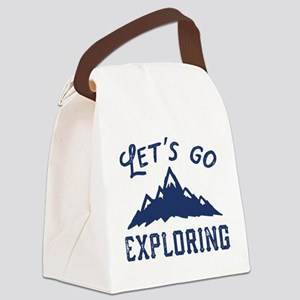 Let's Go Exploring Canvas Lunch Bag