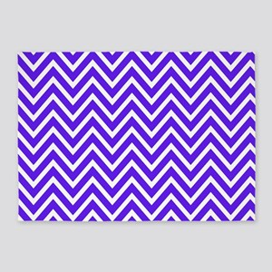 Royal Blue Chevron 5'x7'Area Rug