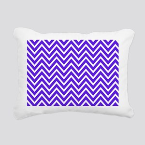 Royal Blue Chevron Rectangular Canvas Pillow