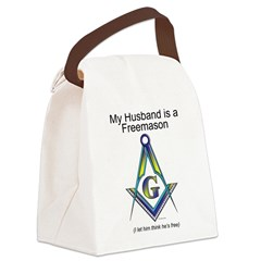 Not so free Freemason Canvas Lunch Bag