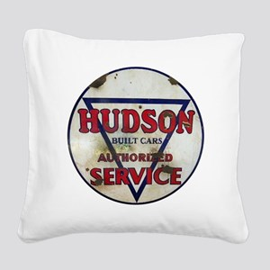 Hudson Service Sign Square Canvas Pillow