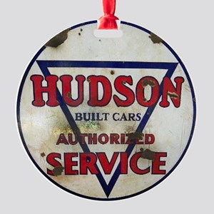 Hudson Service Sign Round Ornament