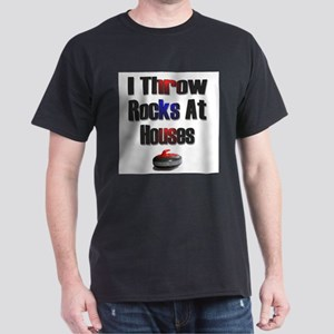 I Throw Rocks At Houses Ash Grey T-Shirt T-Shirt