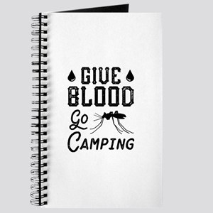 Give Blood Go Camping Journal