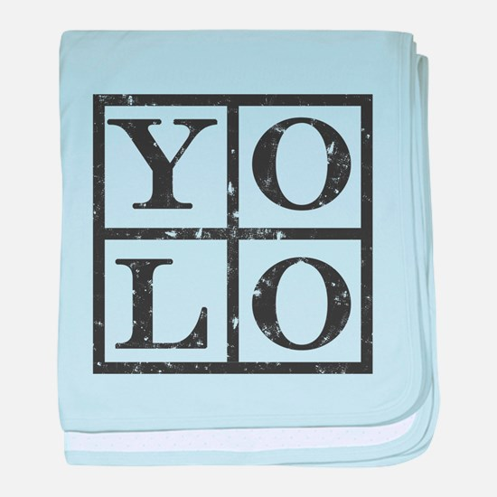 Yolo Distressed baby blanket