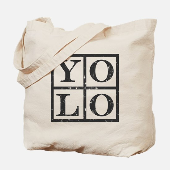 Yolo Distressed Tote Bag