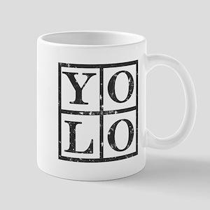 Yolo Distressed Mug