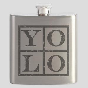 Yolo Distressed Flask