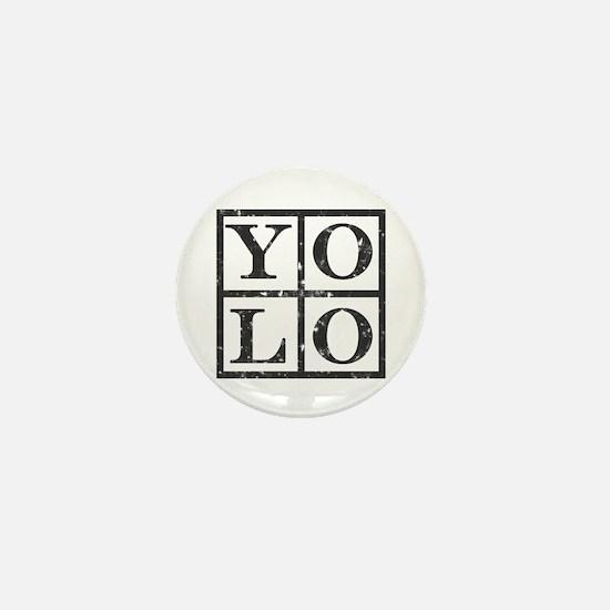 Yolo Distressed Mini Button