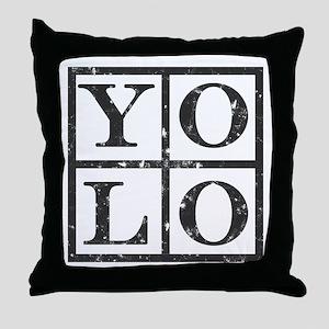 Yolo Distressed Throw Pillow