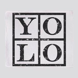 Yolo Distressed Throw Blanket