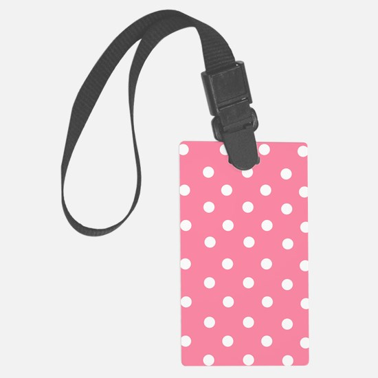 pink-white-dots.jpg Luggage Tag