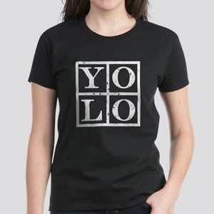 Yolo White Women's Dark T-Shirt