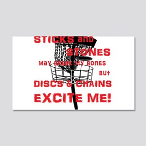 Discs and Chains Excite Me 20x12 Wall Decal