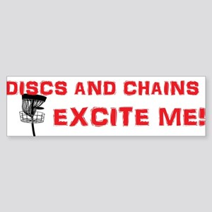Discs and Chains Excite Me Sticker (Bumper)