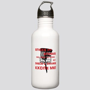 Discs and Chains Excite Me Stainless Water Bottle