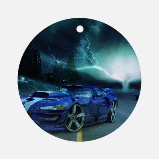 FASTER THAN LIGHTENING Ornament (Round)