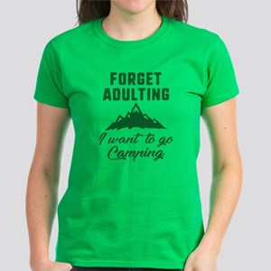 Forget Adulting Camping Women's Dark T-Shirt