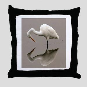 Stork Reflection Throw Pillow