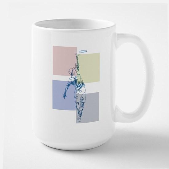 SketchySky with Blocks Large Mug
