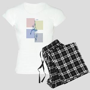 SketchySky with Blocks Women's Light Pajamas