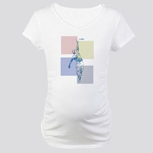 SketchySky with Blocks Maternity T-Shirt