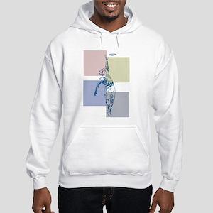 SketchySky with Blocks Hooded Sweatshirt