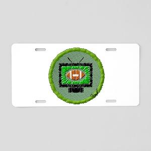 Football Aluminum License Plate