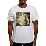 Birth of Venus Botticelli Ash Grey T-Shirt