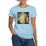Birth of Venus Botticelli Women's Pink T-Shirt