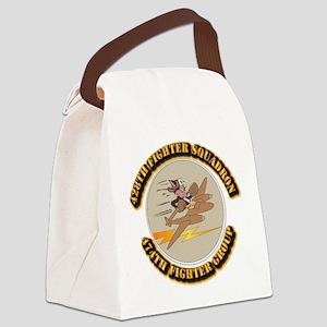 AAC - 428th FS - 474th FG Canvas Lunch Bag