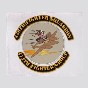 AAC - 428th FS - 474th FG Throw Blanket