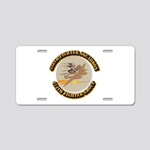 AAC - 428th FS - 474th FG Aluminum License Plate